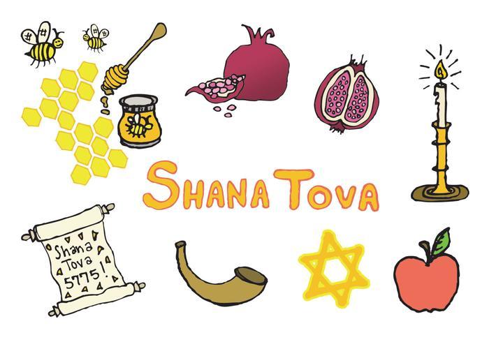 Série de vetores shana tova grátis