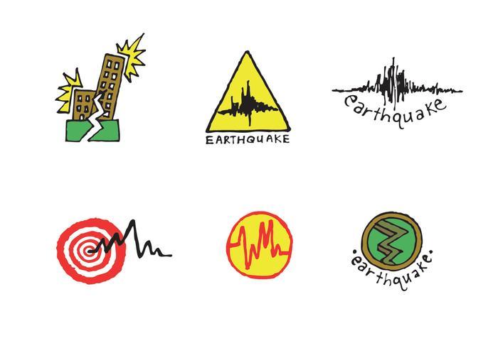 Série livre de vetores de terremotos