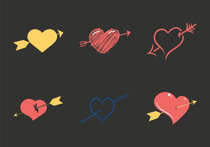 Free Arrow through heart Vector Illustration