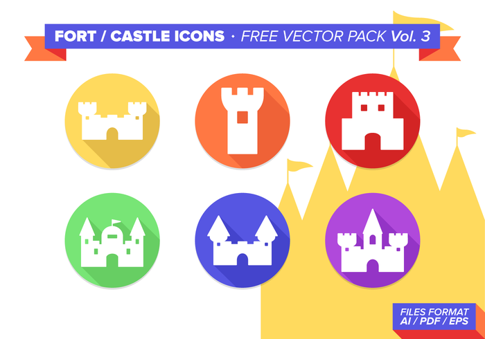 Fort Castle Ikoner Gratis Vector Pack Vol. 3