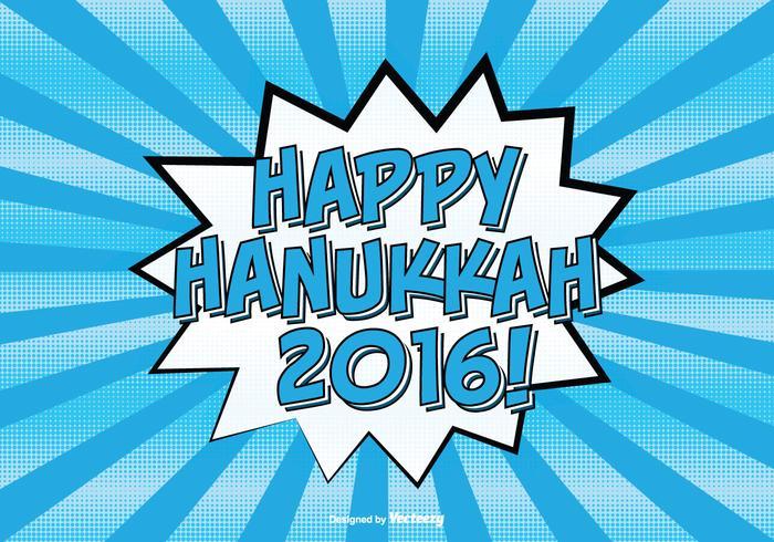 Comic Style Happy Hanukkah Illustration