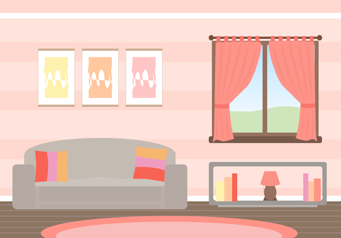 Free Living Room Vector Download Art Stock