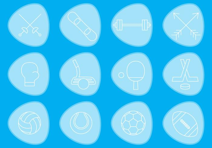 Thin Sports Vector Icons