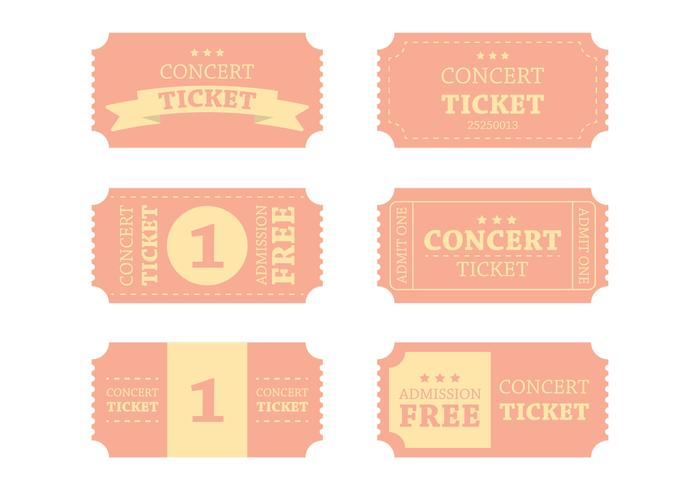 Vintage Concert Ticket Vector