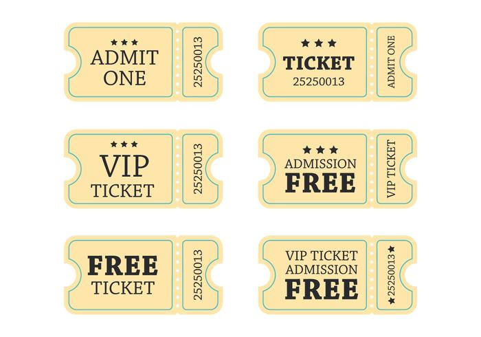 Retro Concert Ticket Vector
