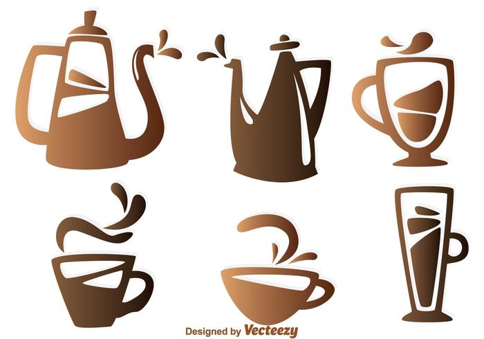 Kaffee Element Icons