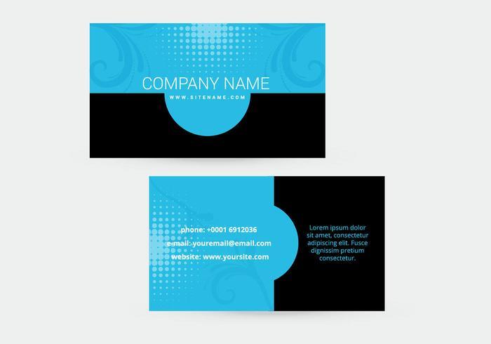 Design de cartão de visita bonito