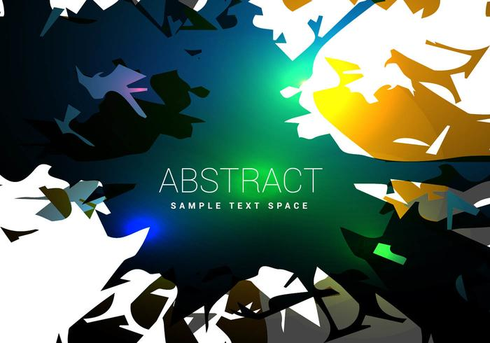 Abstract shiny shapes vector