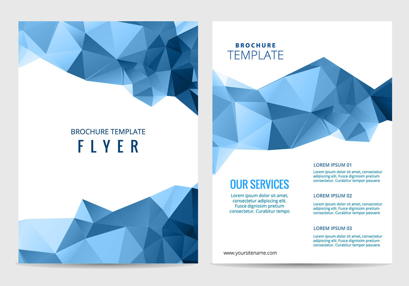 Vector business brochure download free vector art stock for Free templates for flyers and brochures