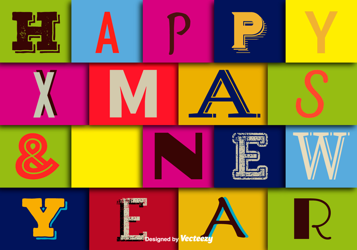 happy christmas and happy new year wallpaper download free vector art stock graphics images