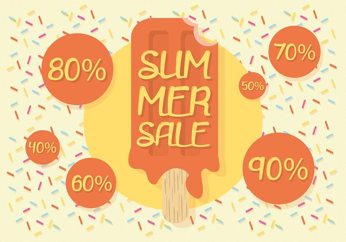 Free Summer Sale Vector Background