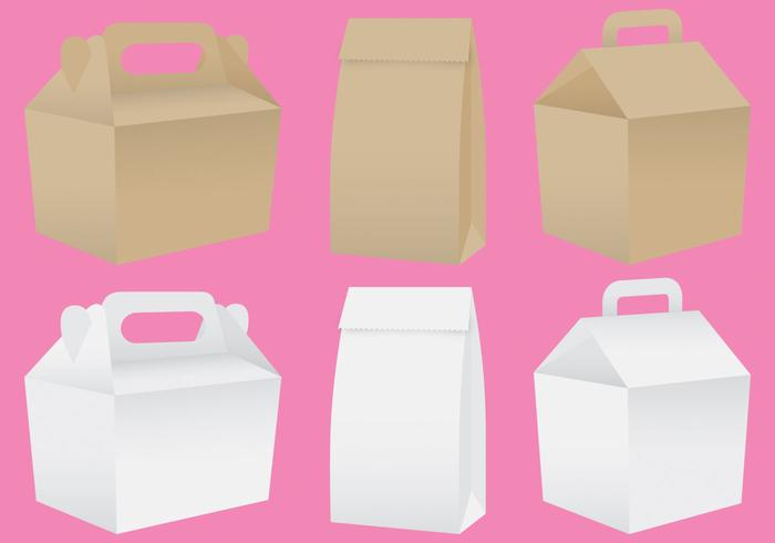 Paper Lunch Box Vectors