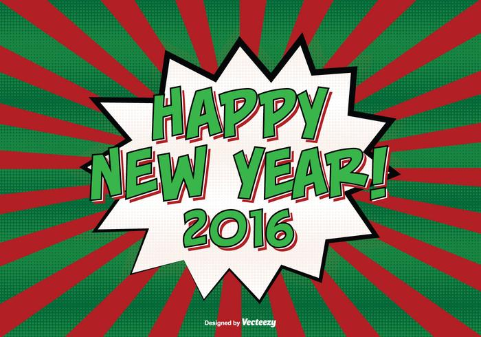 Comic Style New Year Background Illustration