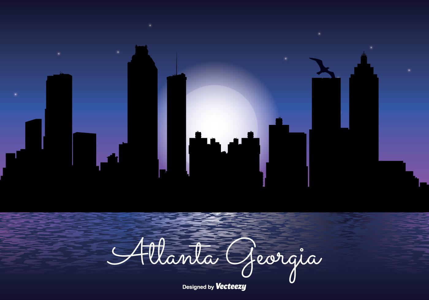 atlanta georgia night skyline illustration download free los angeles city skyline vector los angeles city skyline vector