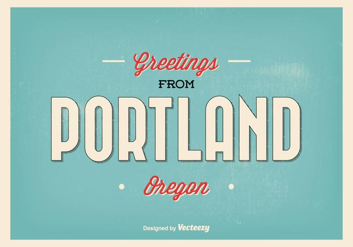 Portland Oregon Greeting Illustration