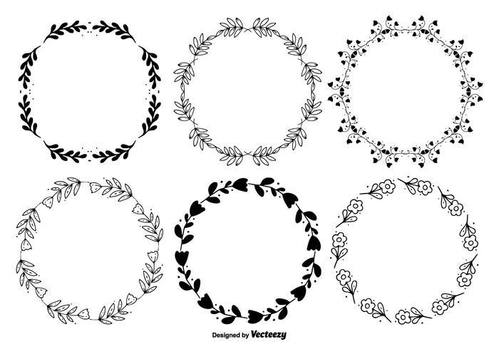 Conjunto de marco de estilo dibujado a mano