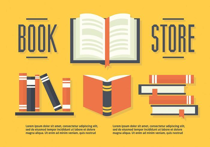 Set of Books in Flat Design Vector Illustration