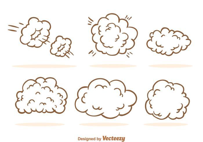 Desenhos animados da nuvem de poeira
