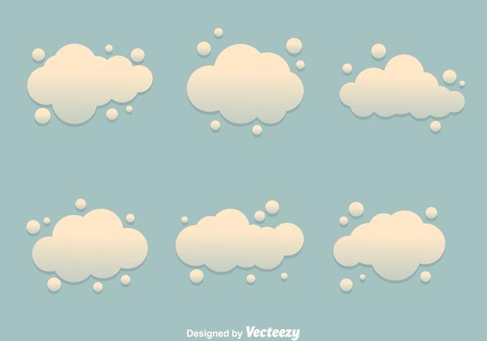 Vetores da nuvem de poeira
