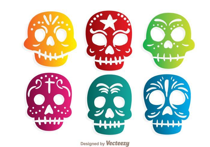 Colorful Ornamental Skulll Vectors