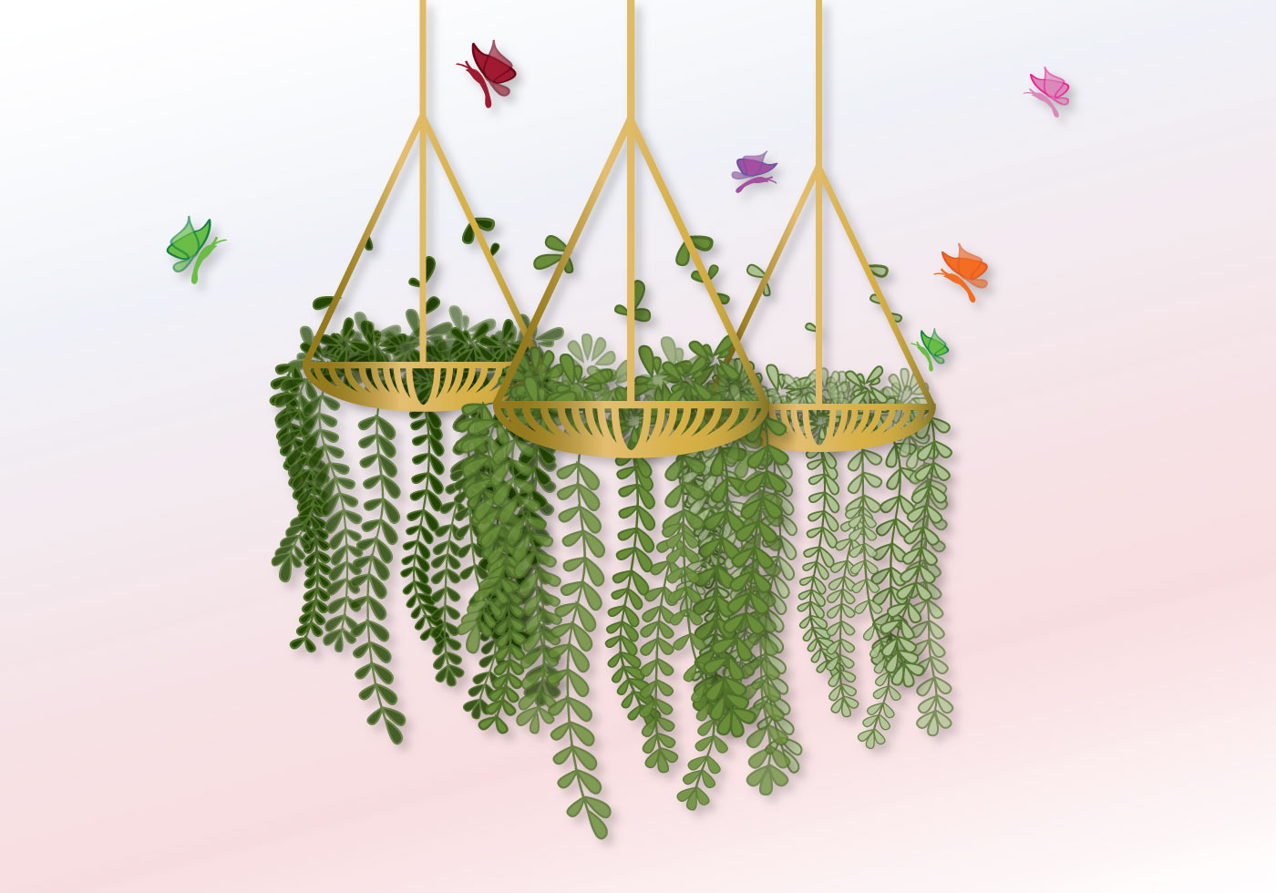 Flower Baskets Vector : Flower pot free vector art downloads