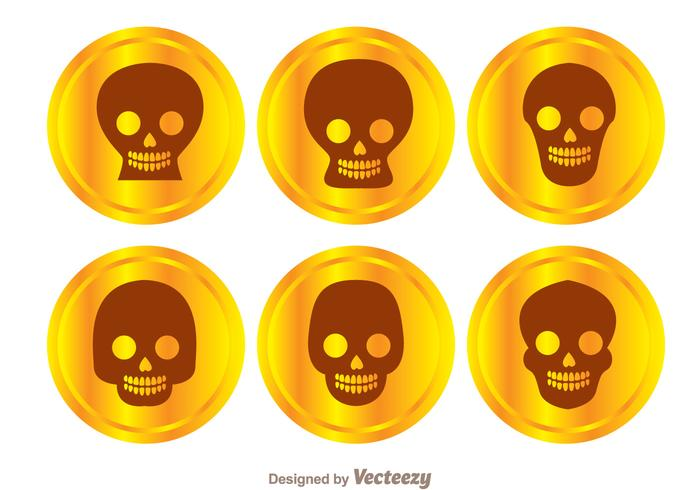 Gold Coin Skull Vectors