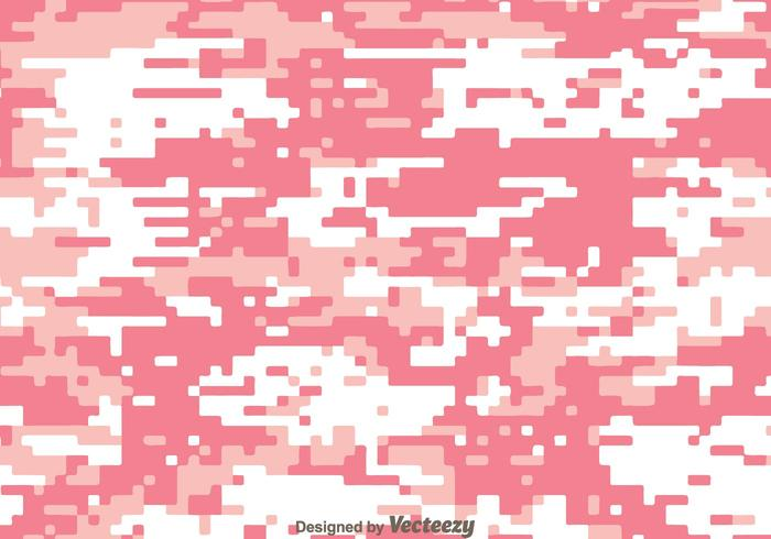 Digital Pink Camo Vector Pattern