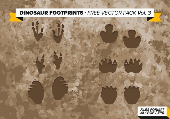 Dinosaurier Abdrücke Free Vector Pack Vol. 3