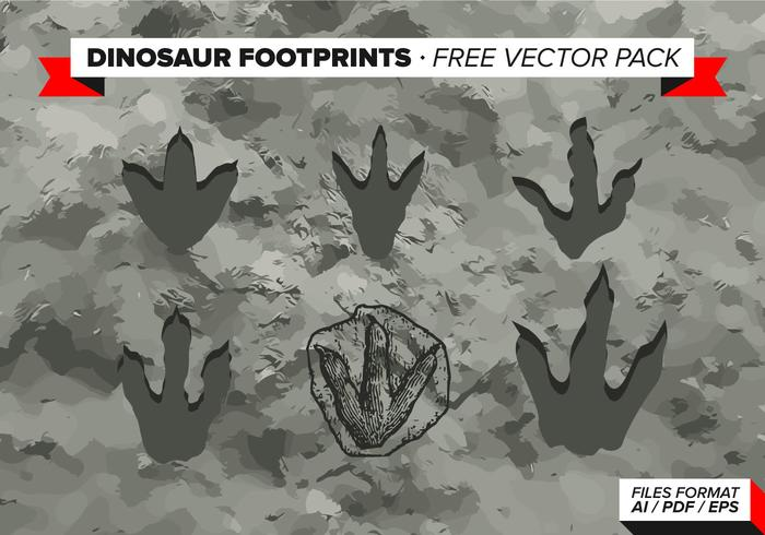 Dinossauro Footprints Free Vector Pack
