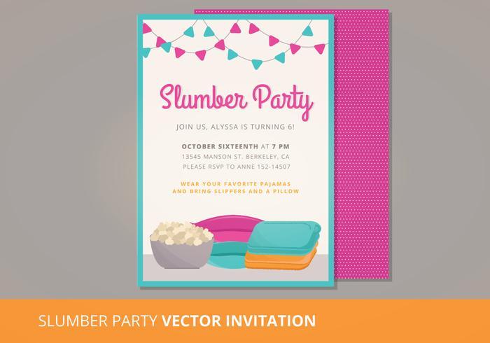 Slumber Party Vector Invitation - Download Free Vector Art ...