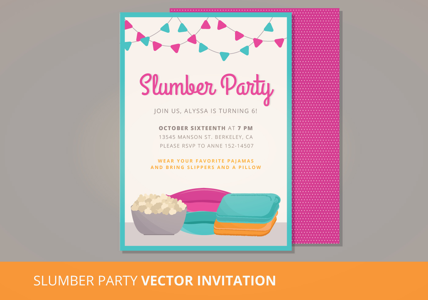 Slumber Party Invite Free Vector Art - (6731 Free Downloads)