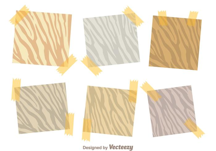 Sticky Note Zebra Print Vectors