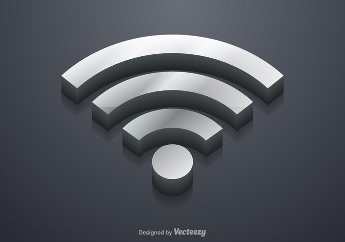 Vector libre del símbolo de 3D WiFi