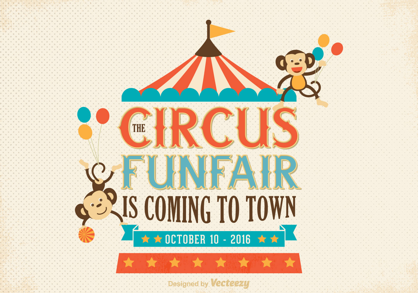 Free old circus poster vector download free vector art for Circus posters free