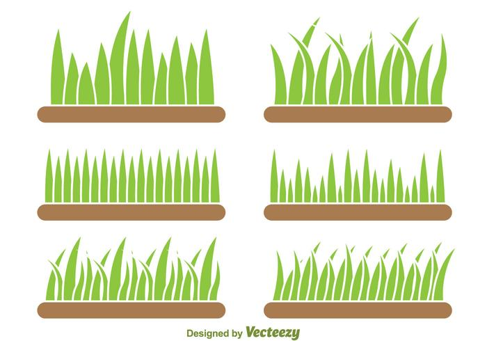 Background Of Grass Vector Set