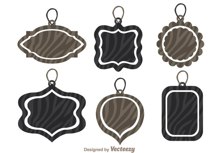 Label Tag With Zebra Print Vectors
