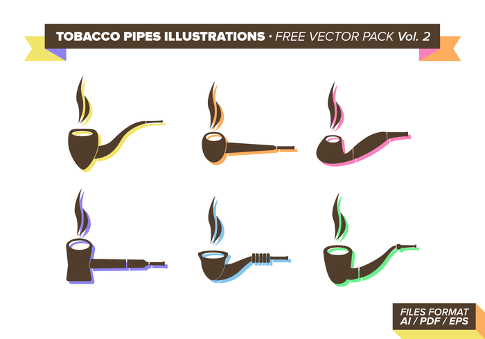 Tabaco Pipes Illustrations Free Vector Pack Vol. 2