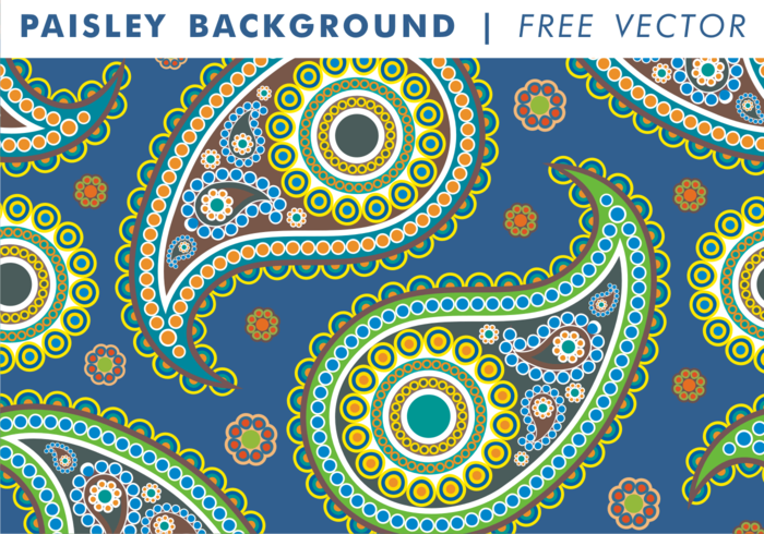 Paisley Background Vol. 2 Free Vector