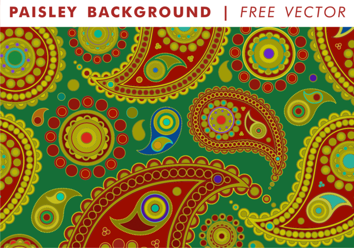 Paisley Background Vol. 1 Free Vector
