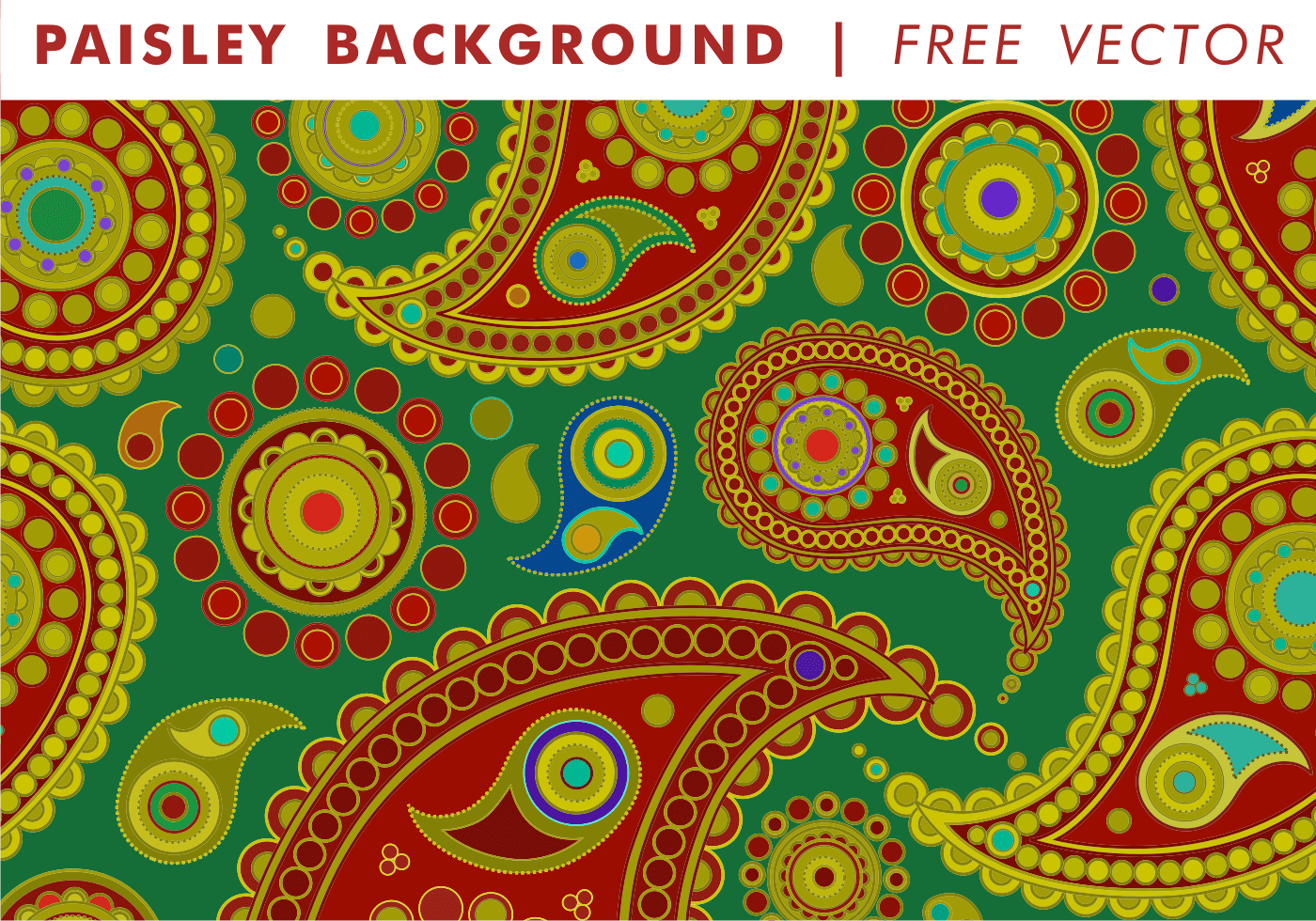 Paisley Background Vol 1 Free Vector Download Free