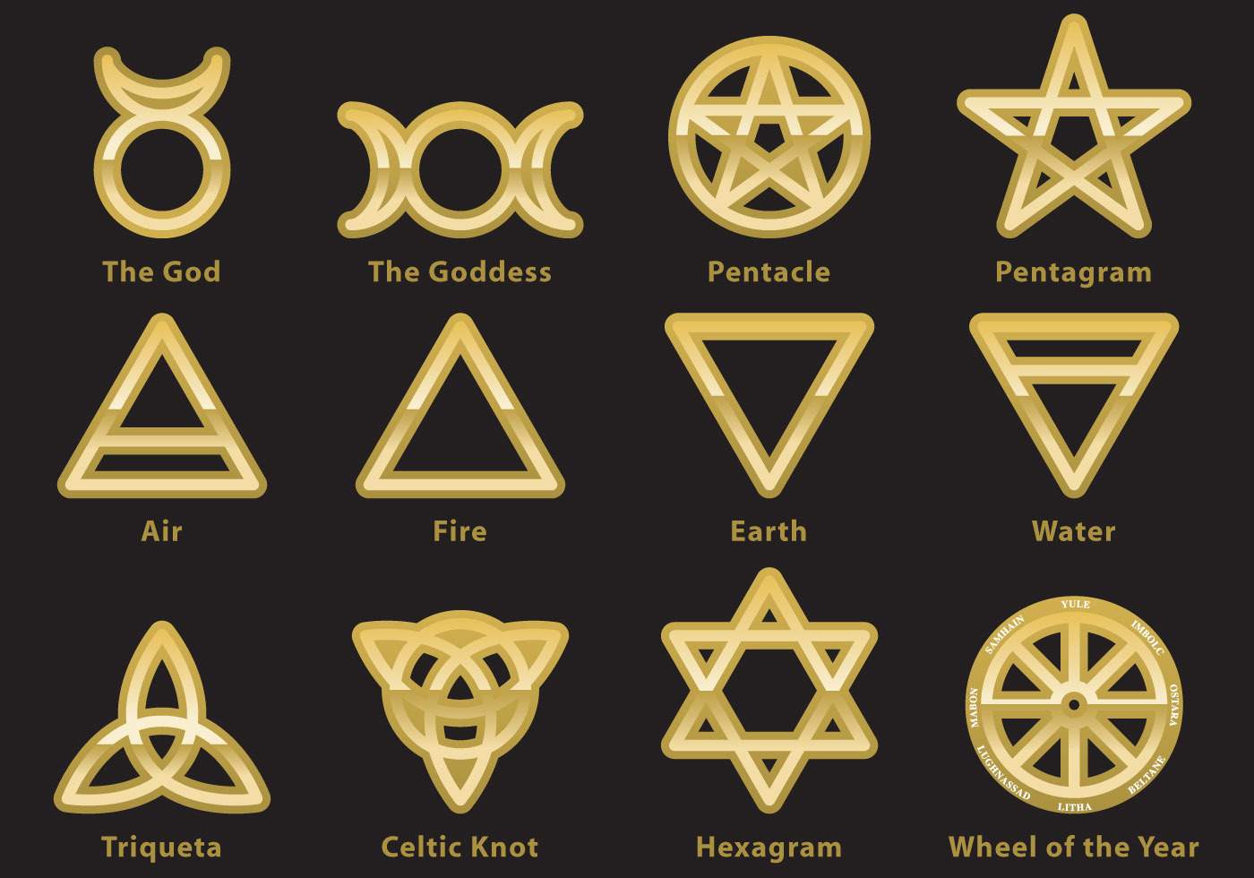 wiccan symbol vectors download free vector art stock