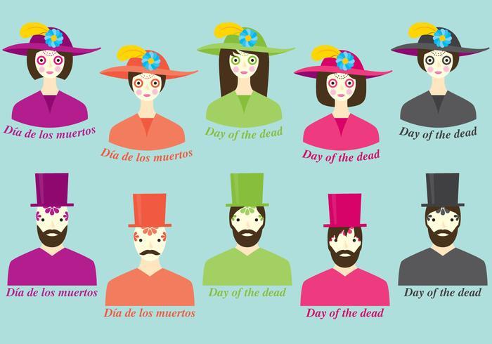 Dia De Los Muertos Costume vector