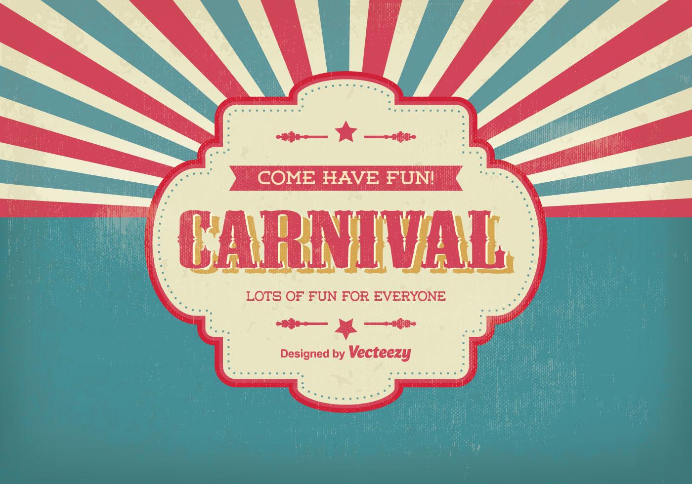Vintage Carnival Illustration Download Free Vector Art