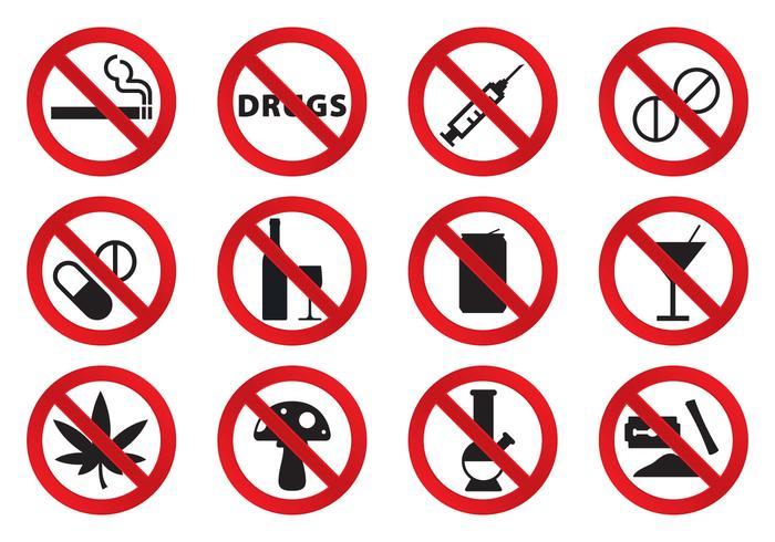 Geen drugs iconen