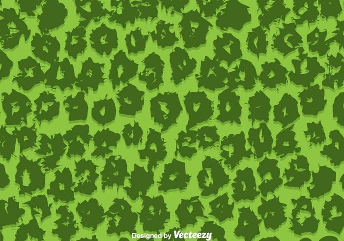 Green Leopard Pattern Vector