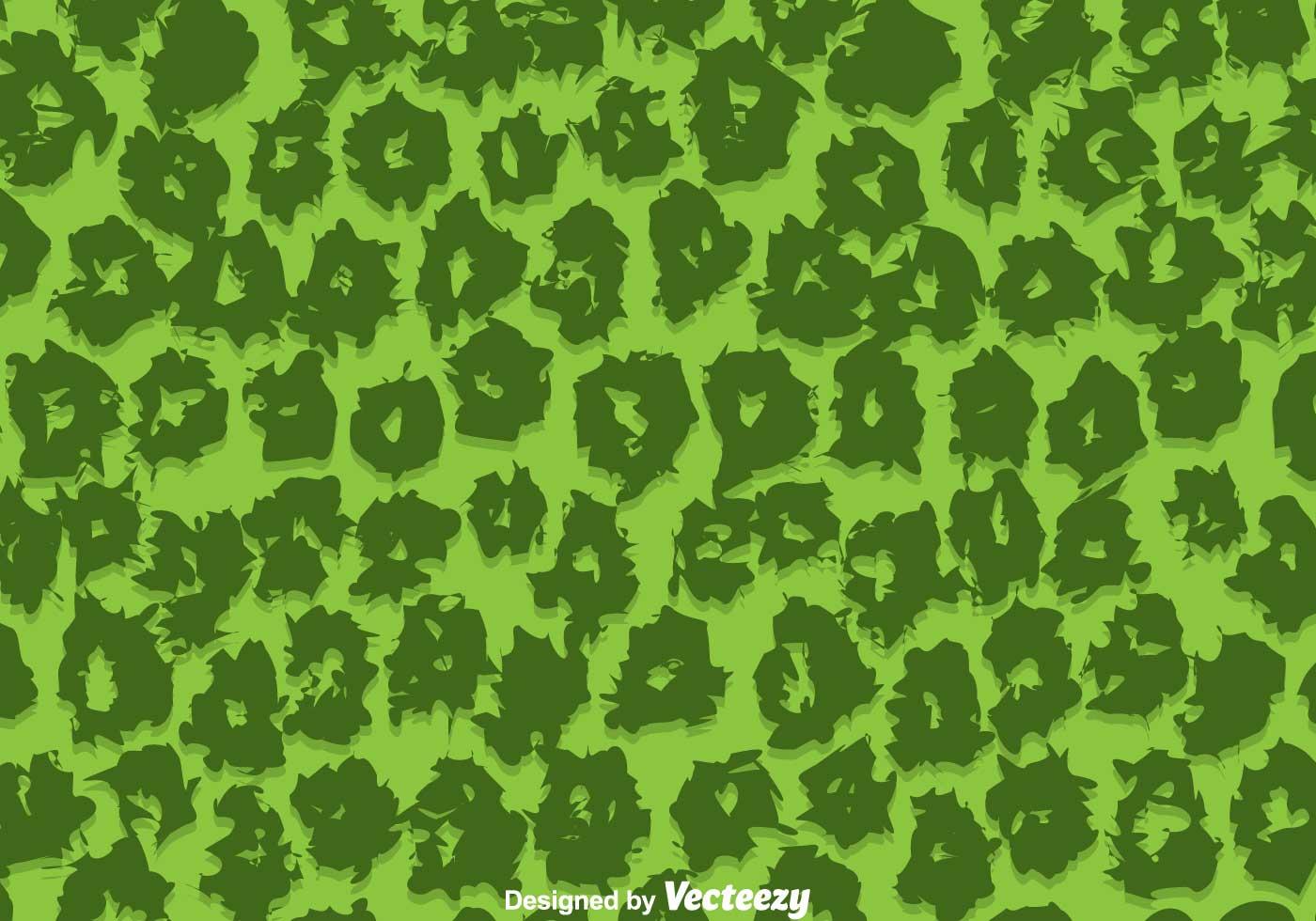 Green leopard print vector - photo#4