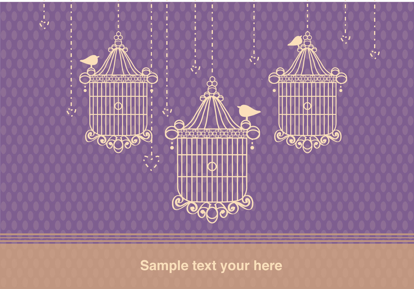Background with Bird Cage Vintage Style - Download Free Vector Art, Stock Graphics & Images
