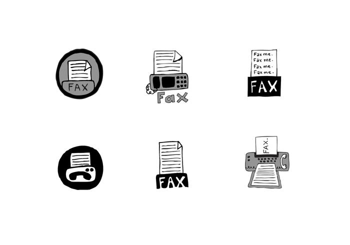 Free Fax Icon Vector Series