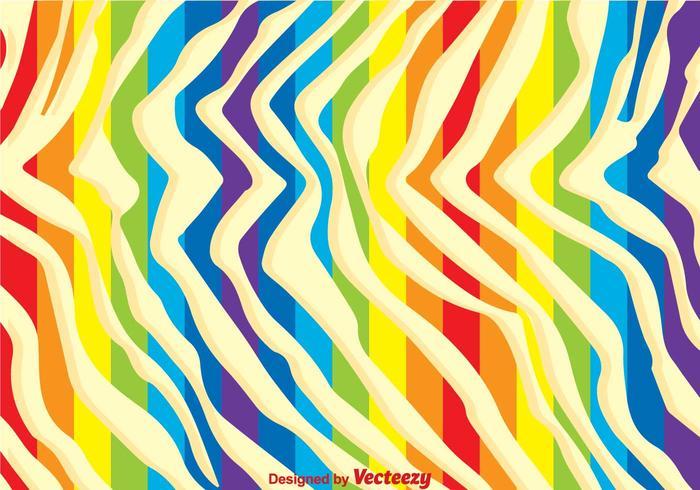 sfondo di stampa zebra arcobaleno