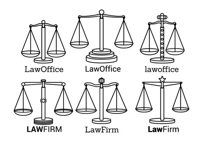 Law Office Logo Vektoren